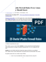25 Useful IPtable Firewall Rules Every Linux Administrator Should Know