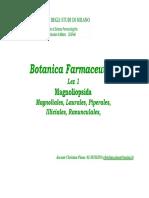 Botanica Farmaceutica - Lez 01
