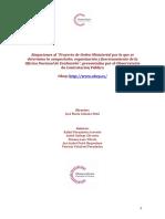 """Alegaciones al """"Proyecto de Orden Ministerial por la que se determina la composición, organización y funcionamiento de la Oficina Nacional de Evaluación"""""""