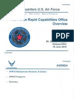 USAF Rapid Capabilities Office - AFA 06/16
