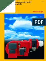 Weishaupt Gas Burners G1 to G7 Version LN (Low NOx)_0129-GB-03-03
