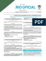Diario oficial de Colombia n° 49.916. 26 de junio de 2016
