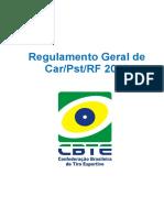 Regulamento Modalidade Car Pst Rf 2016