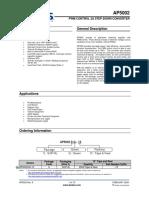 Ap5002 - Pwm Control 2a Step-down Converter