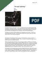Does God Speak Through Lightning