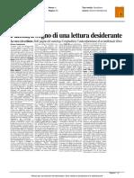 Paioni, il segno di una letteratura desiderante - La Città di Teramo del 26 giugno 2016