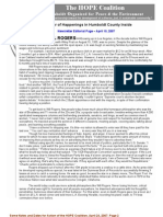April 24, 2007 - HOPE Coalition Newsletter ~ Humboldt Organized for People and the Environment