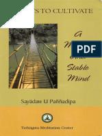 267. Five Ways to Cultivate - Ashin Panndipa