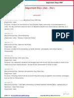 List of Important Days 2015(Jan - Dec) by AffairsCloud