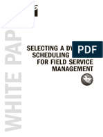 Selecting a Dynamic Scheduling Engine for Field Service Management