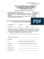 Application Form AP DTU