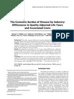 Tolbert Et Al (2014) the Economic Burden of Disease by Industrial Sector & Gender Copy