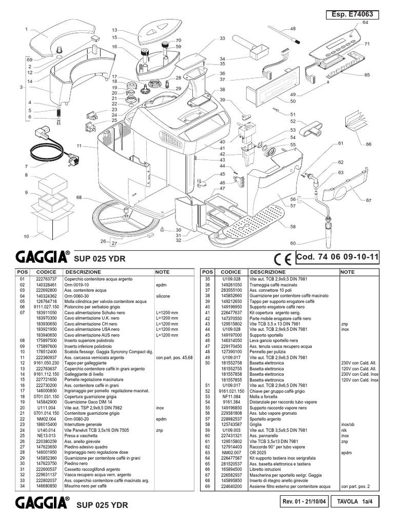Syncrony Compact Digital SUP025YDR Parts Diagram