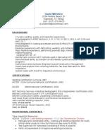 David Wiltshire Resume, 12-2-14