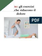 Artrite e Fisioterapia, Gli Esercizi Fisici Che Riducono Il Dolore