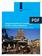 Opportunities Challenges in the Indian Market