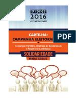 Cartilha - Solidariedade Minas Gerais - Convenções Partidárias - 2016