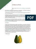 Producción de La Palta en El Perú
