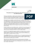 Cable Survivability - NEMA Bulletin 101 - 2011