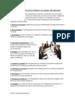 Diez Consejos Para Trabajar en Equipo Eficazmente