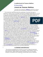 Teoria de Malthus, Neomalthusiana y Documento FAO