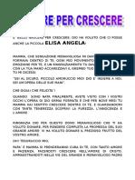 Poesia Nascere Per Crescere Elisa Angela Versione 2