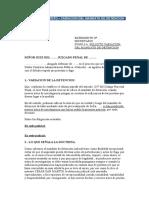 Modelo de Escrito Variacion de Mandato de Detencion.