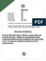 AAU Region 19 Schedule