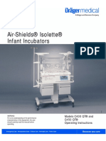 Dräger AirShield Isolette C400 - User Manual