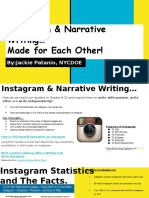 ISTE Instagram Narrative Writing