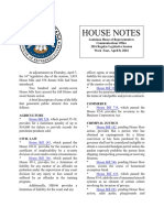 2016 House Notes Regular Session Week 4