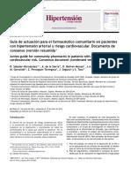 Consenso Farmaceutico en Hta