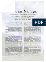 2016 House Notes Regular Session Week 10