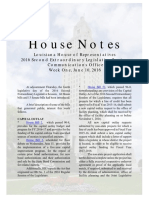 2016 House Notes 2nd Special Week 1