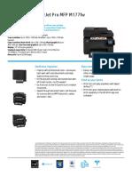 Datasheet Color LaserJet Pro MFP M177fw