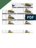 Preoperacionales Maquinaria y Equipo de construccion y mineria