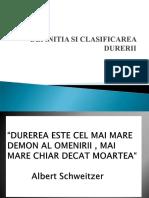 z2 Definitia Si Clasificarea Durerii 2012