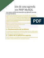 Aplicación de Una Agenda Básica Con PHP MySQL