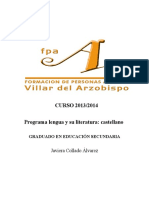 Programación Lengua Castellana y Literatura Eso