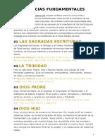 28 CREENCIAS FUNDAMENTALES