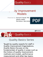 8923333Quality Improvement Models Presented by Donna m Daniel Phd1401