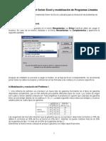 Guía con Excel - Investigación de Operaciones