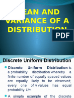 Variance and mean of a distribution powerpoint presentation