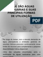 3-O Que São Águas Residuárias e Suas Principais Formas de Utilização