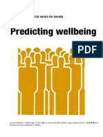 Predictors of Wellbeing