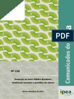 Ocupação No Setor Público Brasileiro IPEA