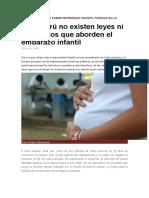 Presentan Estudio Sobre Maternidad Infantil Forzada en La Región