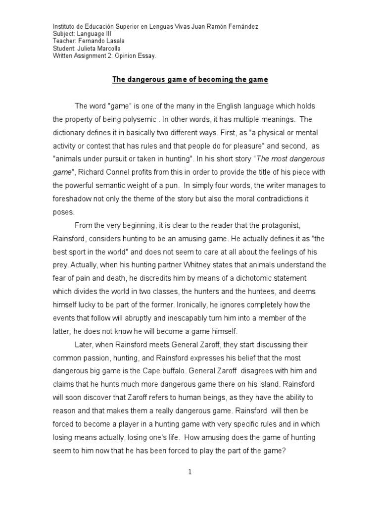 worksheet The Most Dangerous Game Worksheet essay analysing the pun in most dangerous game hunting truth