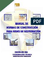 Manual de Normas de Construcción Para Redes de Distribución