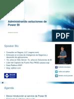 Administrando Soluciones de Power BI
